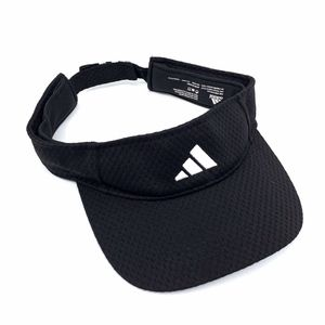Adidas Black Adjustable Strapback Visor Hat Cap